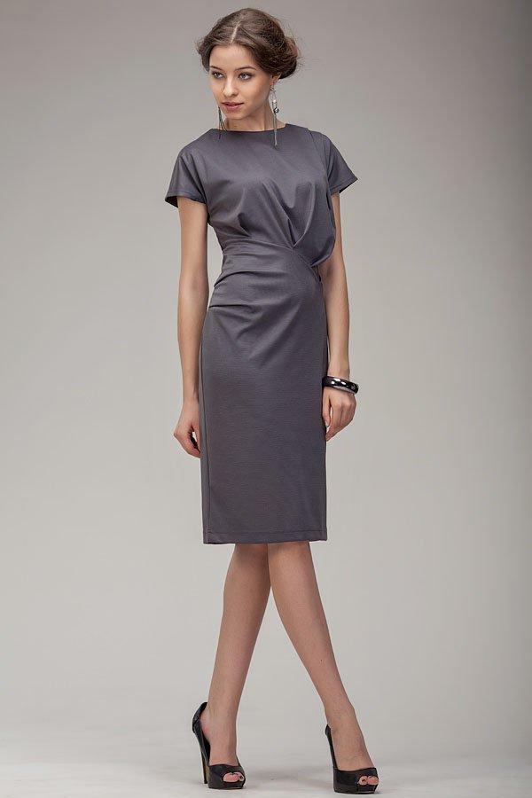 Платья из серой ткани