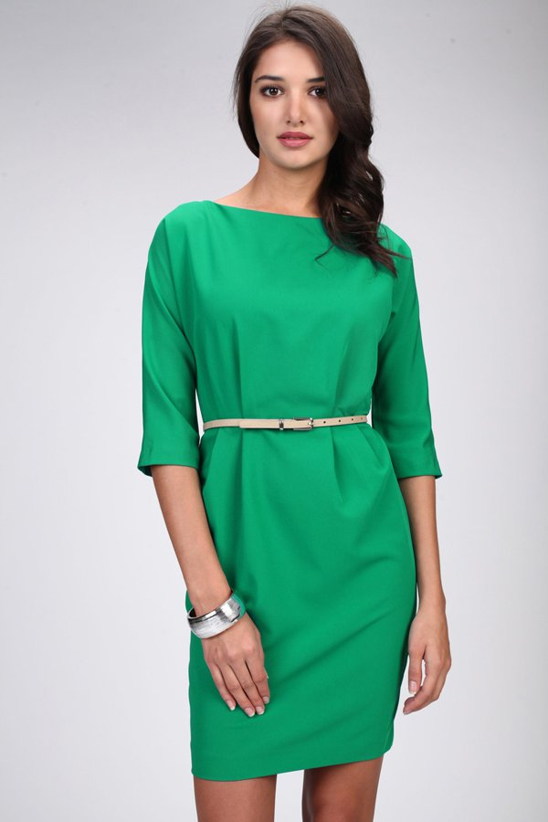 Строгие зеленые платья